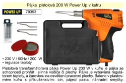 Pájka pistolová 200 W Power Up v kufru