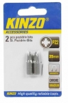 KINZO - bit PZ2 25mm - 2ks